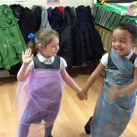We made our own costumes using different material.