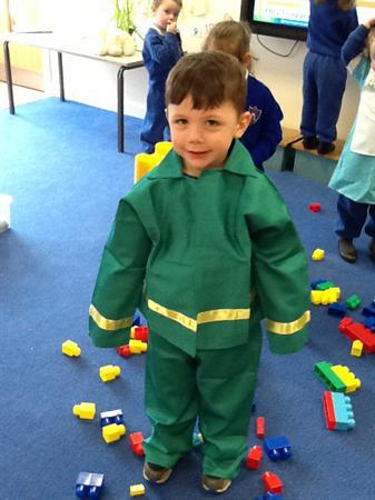 We have been dressing up as real-life superheroes.
