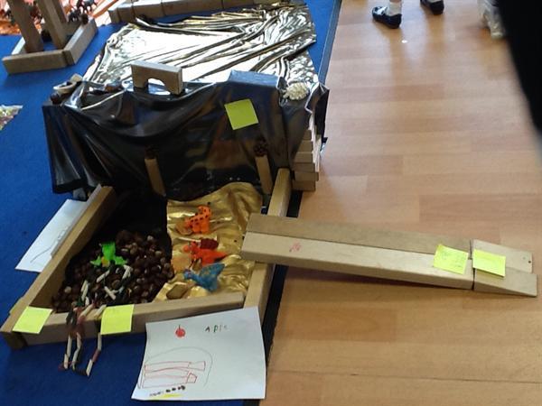 Building dinosaur homes.