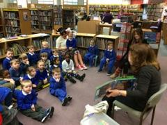 We had a fun visit at the library.