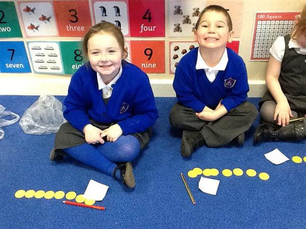 Sharing the golden coins into two groups.