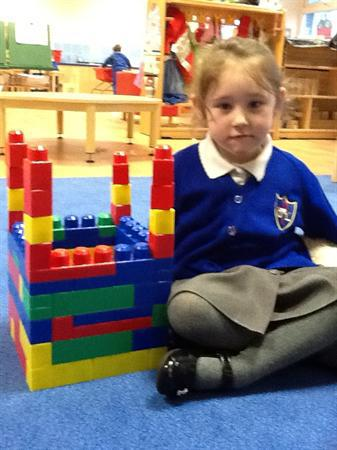 We have been making dens and castles in nursery.