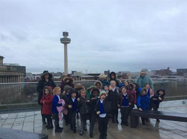 Central Library Rooftop in the rain!