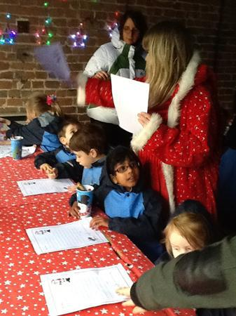 Writing letters to Santa