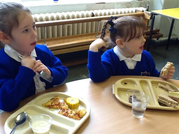 First day staying for lunch - 14.09.15