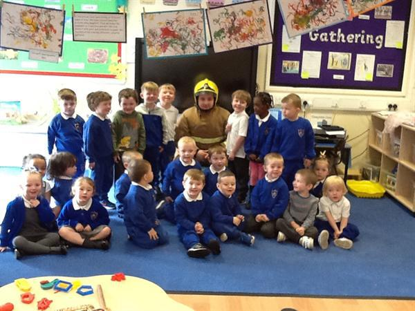 Real-life superheroes came to visit us in nursery.