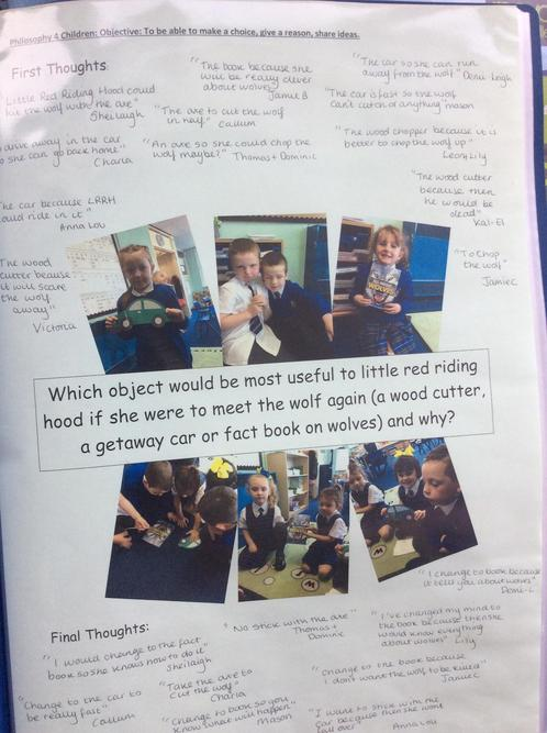Year 1 had a great discussion in their P4C session