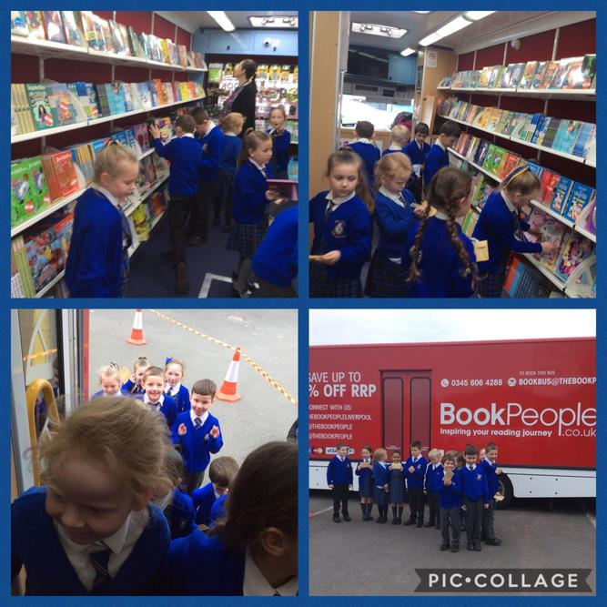We enjoyed having the Big Red Reading Bus today!