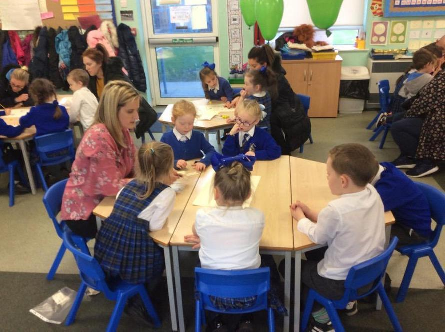 Parents joined us for our phonics party!