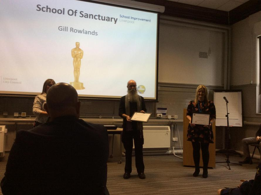 Mrs Roberts received our School of Sanctuary Award