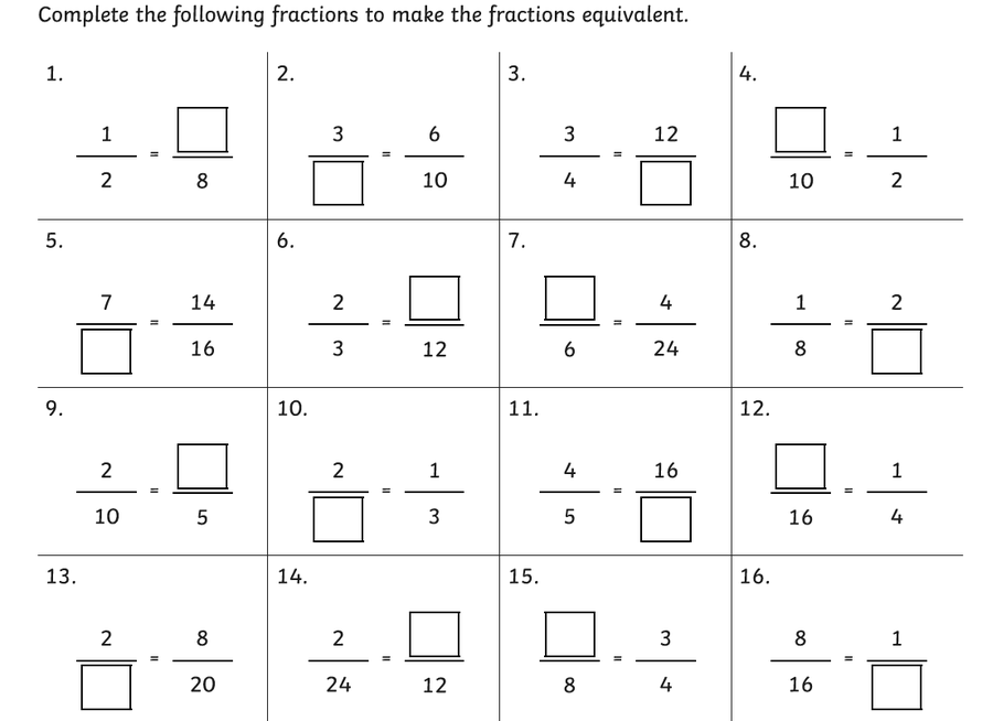 We will keep recapping all things fractions