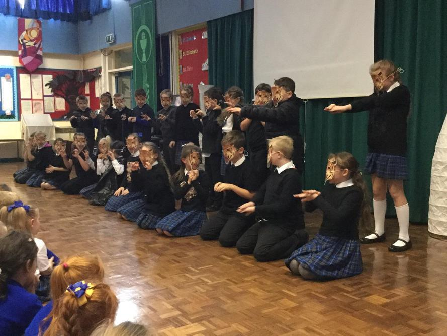 Year 5 performed Tyger Tyger by William Blake