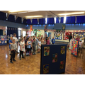 Choir sang to parents during our art exhibition