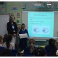 Roxy gave a presentation about her Nystagmus