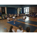 Gymnastics display to the whole school