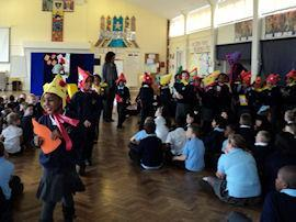Year 2 paraded their bonnets.