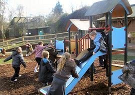 There was time to enjoy the play area!