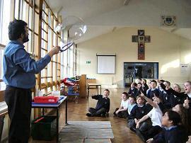 Selwyn Van Zeller with his amazing bubbles.