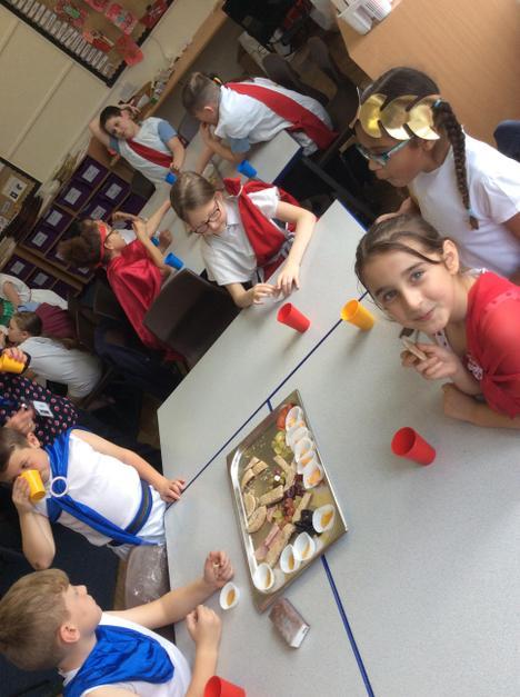 Roman food platters.