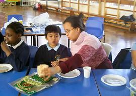 Some children particularly liked trying the wraps.