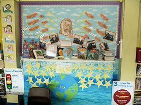 Year 4's Altar in the classroom.