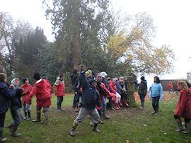 Orienteering in the pouring rain!