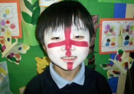 Here's a patriotic look from one of our Y1 pupils