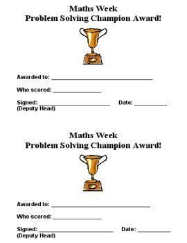 Problem Solving Champions.