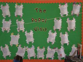A display on the Papal Visit.