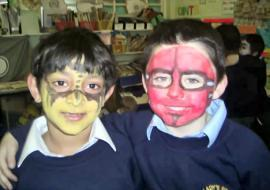 Here's two more Year 2 pupils - one looks scary!