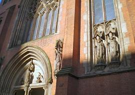 The exterior of St Chad's Cathedral.