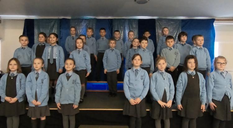 Oak class singing for Cherry Trees TWM