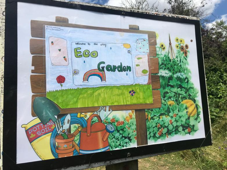 New sign by Daisy and Casey.