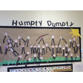 We had lots of fun making our own Humpty Dumpty's and learning about rhyme.