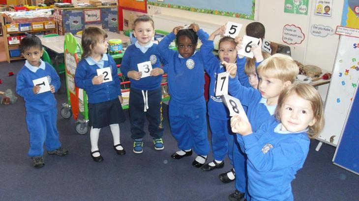 We are learning to count.