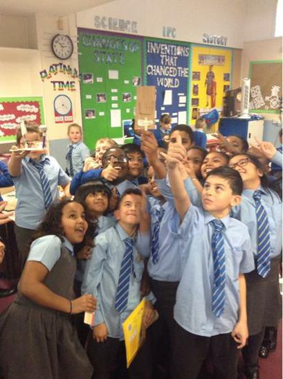 Sean's Selfie Taker - the whole class enjoyed it!