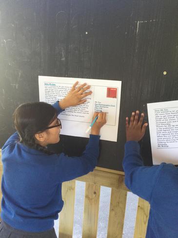 Year 5 enjoyed taking their Literacy lesson outside this week.