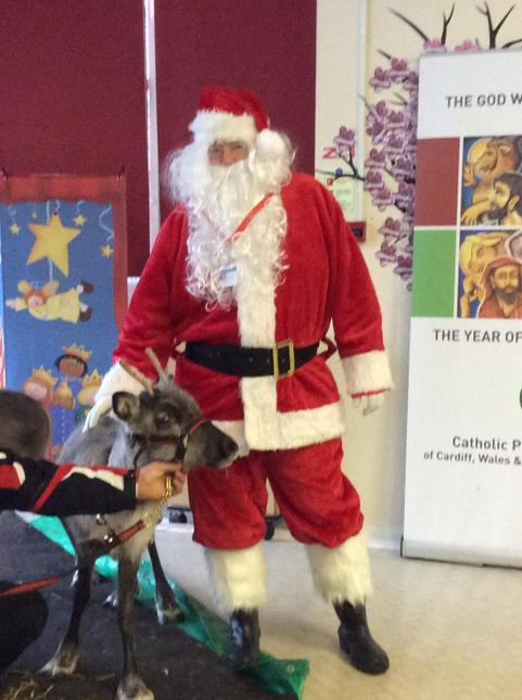 Thank you for visiting Our School today Santa