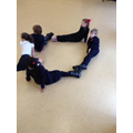 Team work to make letters