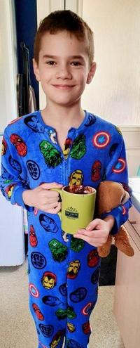 Freddie's cake in a mug