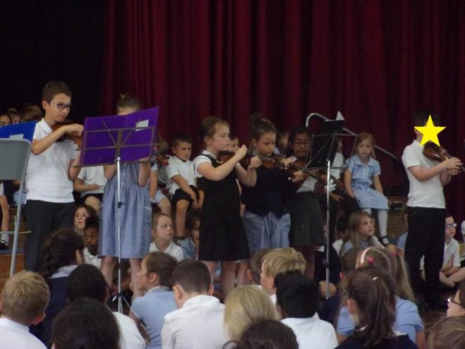 OW Violin group's first ever concert