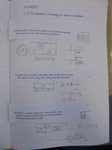 Victor's maths work