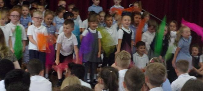 """Reception performing """"Scarf Songs"""""""