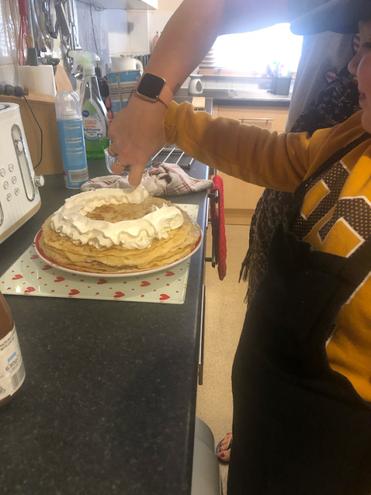 Vinnie's pancake cake