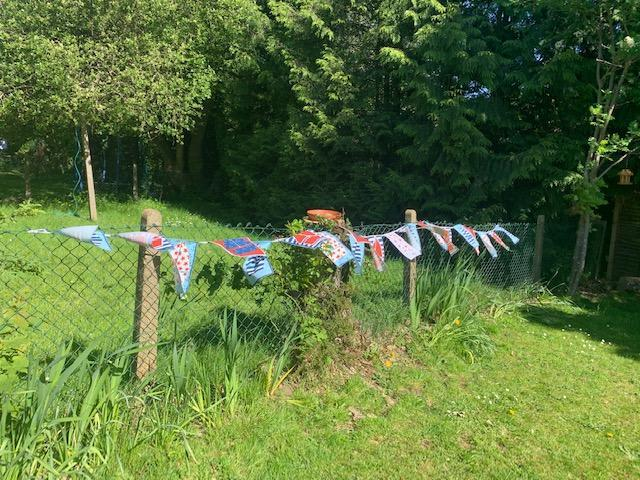 Mrs Bicknell's bunting