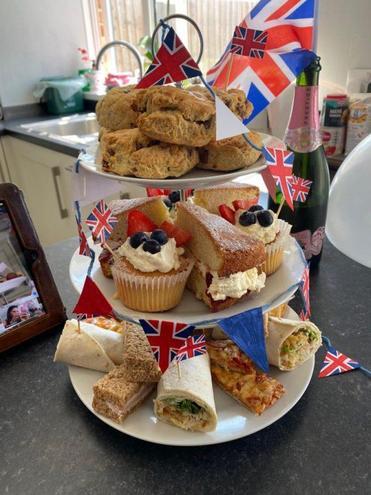 Mrs Bullivant's VE Day tea