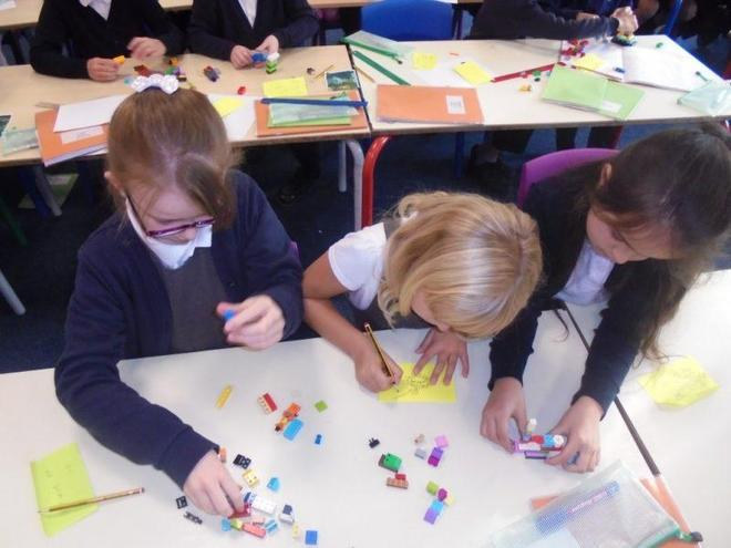 Making a story map using Lego
