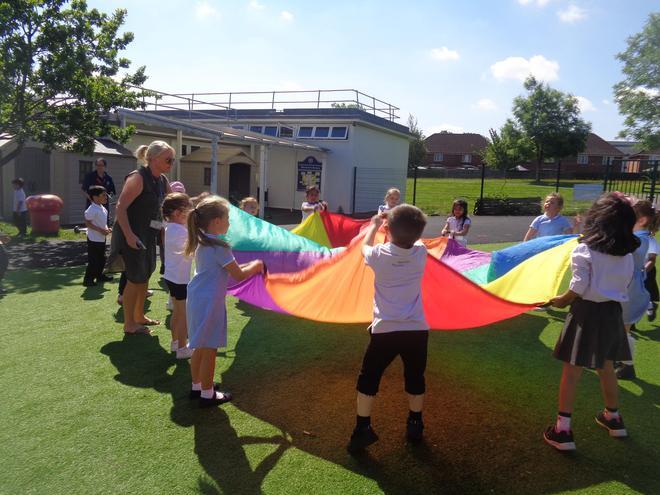 Parachute games.