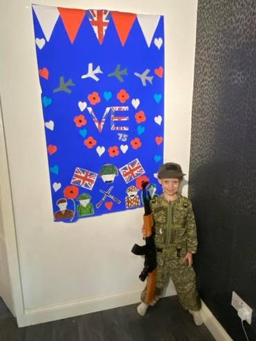 Marley's VE DAY poster