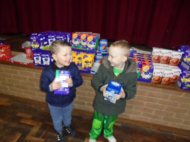 Swapping the egg hunt egg for a real Easter egg
